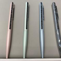 Crystal Shimmer ボールペン ピンク・ライトグリーン・ライトブルー  税込4,180円 シルバー  税込5,500円