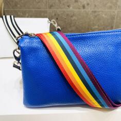 BAG size : W23×H15×D10 color : ブラック・ホワイト・ブルー・ピンク・ベージュ・グレージュ 価格 : ¥28.600 (税込) ベルト color : レインボー・モノトーン(ブラック) 価格 : ¥7.700 (税込)