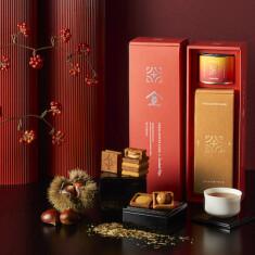 〈税込〉5,400円 1セット(バターサンド〈栗〉5個入、棒ほうじ茶缶(30g))