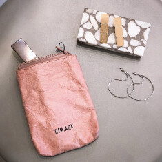 Paper like mini pouch ¥2,750 (税込)    Flat thin plate pierce  ¥4,950 (税込)  Deformation circle pierce ¥4,950(税込)