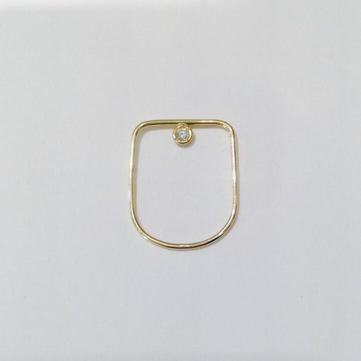 【価格】¥44,000 【サイズ】M:#12〜#13 最大腕幅 約0.1cm 【素材】K18YG,ダイヤ(0.04ct)
