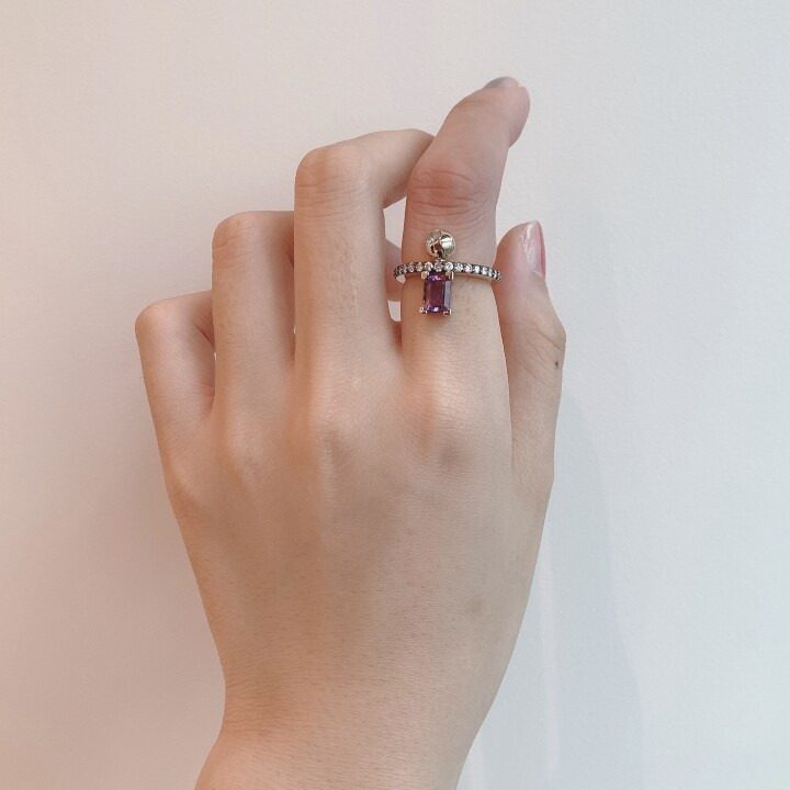 Equal Ring(Amethyst)#10 【価格】¥192,500 【サイズ】#10 【素材】K10YG、ダイヤ(0.5ct)
