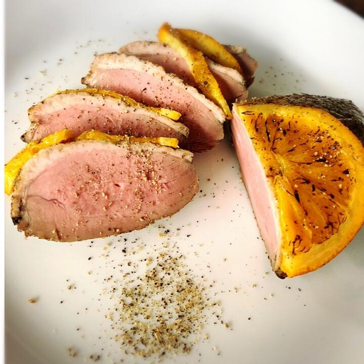 鴨のパストラミ オレンジ風味