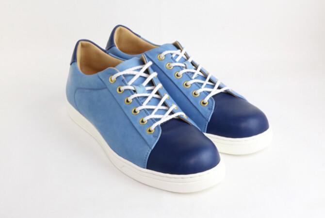 Women's SUKUMO Leather Sneakers Color:ai(藍)、asagi(浅葱)、ai / asagi(藍/浅葱) Size:34, 35, 36, 37, 38, 39 Price:¥88,000 (税込)
